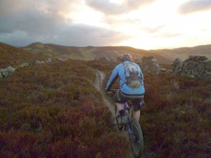 Mark on the Moel Famau singletrack.