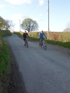 Mike and Mark approaching the Bryn Alyn junction.