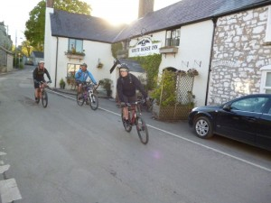 At the White Horse pub junction in Cilcain.