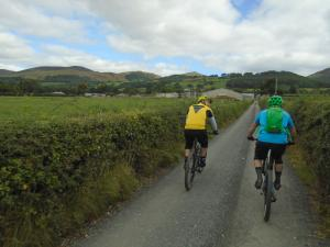 Tom and Dave heading back towards the Clwydian Range.