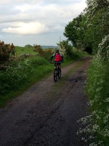 Jeanette on the Maes y Droell quarry double track.