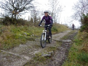 Trudy on the Castell double track.