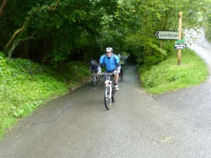 Andy at the top of the steep Maeshafn climb.
