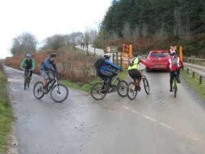 Arriving at Llandegla MTB centre.