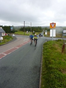 David and Andy at the Moors Inn junction.