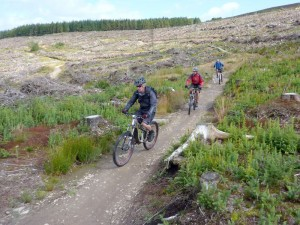 Mike on the Llandegla Red Route.