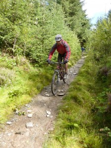 Rich starting the Offa's Dyke descent in Llandegla Forest.