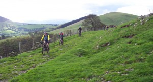 Steve, Lucy and Damien on the Fron Hen double track.