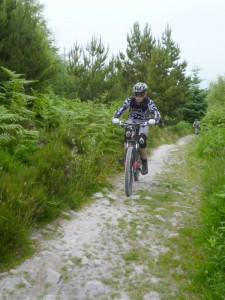 Rhys on the Circular Track in Nercwys forest.