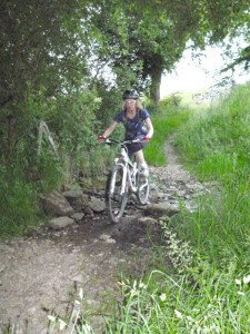Sally at the Chimney Trail ford.