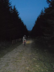 Steve and Graham on the final Moel Famau forest descent.