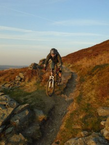 Steve on the Moel Famau singletrack.