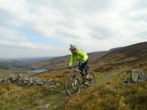 Allan on the Clwydian Range concessional trail.