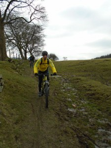 Anthony descending from Moel Eithinen.