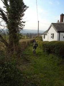 Brian starting the Hirwaen bridleway.