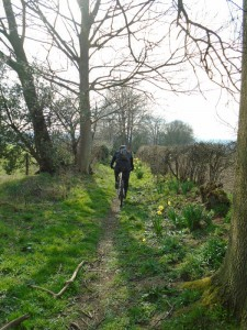 Justin on the Tyn-y-Celyn bridleway.