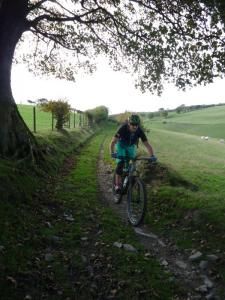 Matt on the rutted Mast descent.