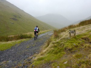 Lee starting the Glenridding Common climb.
