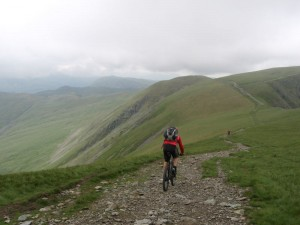 Mark descending the Straits of Riggindale on High Street.