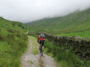 Mark riding towards the Hagg Gill climb.