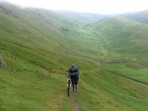 Col (flattyres) with burning calves on the steep Hagg Gill climb.