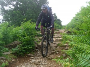 Col (flattyres) on the technical Ullswater trail.