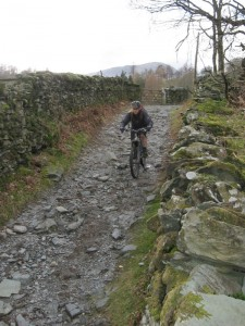 Paul on the descent to Elterwater.