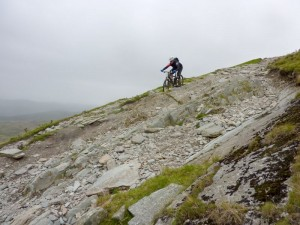 Mark descending Walna Scar.