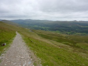 Near the top of the long Walna Scar climb.