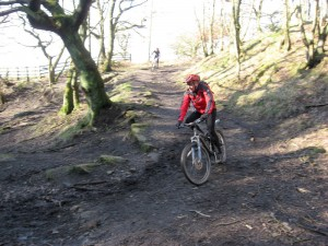 Nic on the Wilderswood descent.