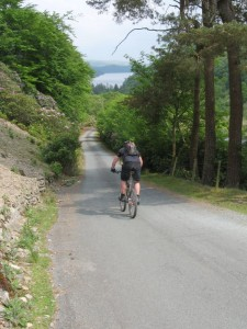 Gaz descending to Lake Vyrnwy.