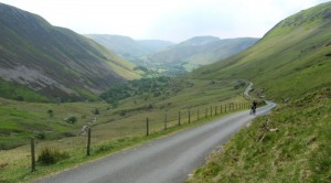 Gaz on the long hard climb of the Bwlch y Groes.