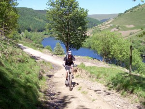 Col (flattyres) on the concessional climb to Wooler Knoll.