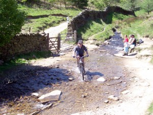 Paul at Jaggers Clough ford.