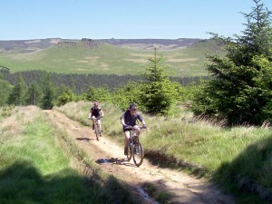 Paul and Sabine climbing from the Wooler Knoll junction.