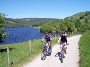 Paul and Sabine by Ladybower Reservoir.
