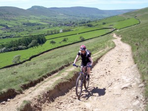 Sabine on the Clough Farm climb.