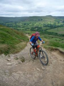 Graham fighting up to the top of the Hollins Cross climb.