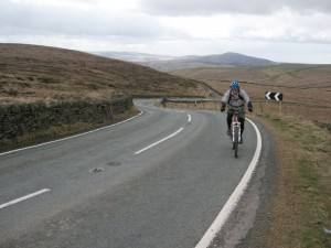 Darren near the top of the Birchenough Hill climb.