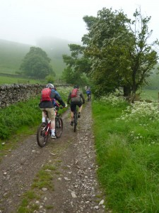 Ed and Clive starting the Sough Lane climb.