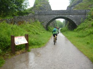 Simon starting the Monsal Trail from Blackwell Mill.