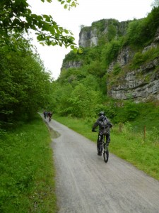 Steve riding through Chee Dale on the Monsal Trail.