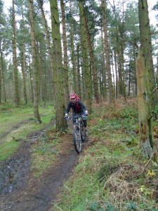 Graham on the Manners Wood singletrack.