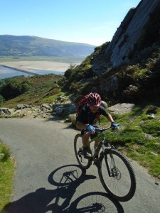 Graham steep climb past the Barmouth slabs.