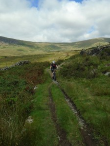 Libby on the Bryn Castell climb.