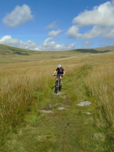 Libby on the Llyn Irddyn bridleway.