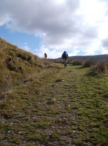 Starting the Grassy Steep climb up Cadair Idris.