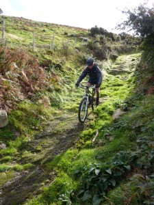 Mike on the Garreg Fawr descent.