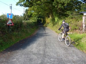 Mike starting the evil Rowen YHA climb.