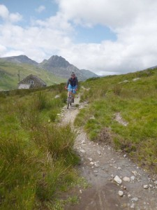 Chris on the Tal-y-braich bridleway.